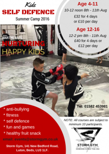 Storm Kids Self Defence Camp 2016 Print Quality