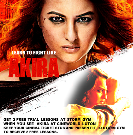 FREE Training at Storm Gym with Akira Cinema Tickets