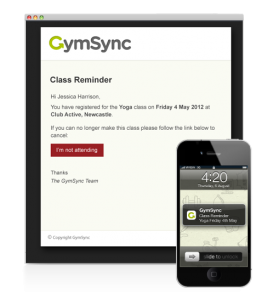 Gymsync reminders